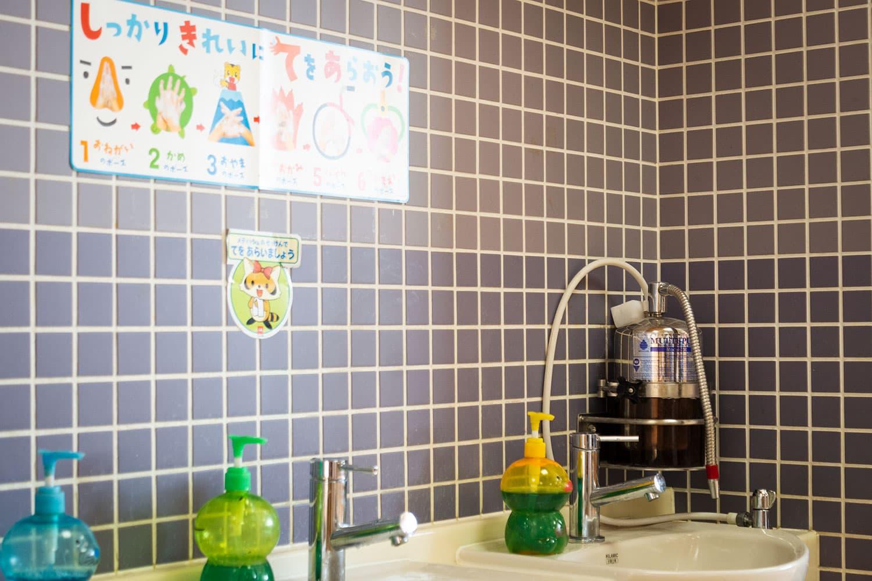 御社のマルチピュア浄水器は、建築設計事務所からの紹介で導入することに決め、こどもが触れる園内全ての水道に浄水器を導入しています