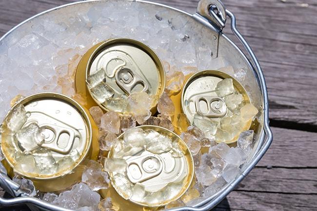 常温の缶ビールをすぐに冷やす方法をご紹介