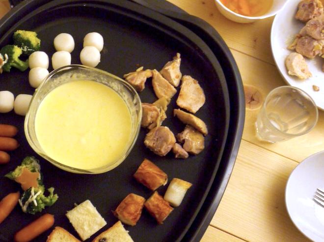 家カフェしよう – 根菜たっぷりチーズフォンデュ