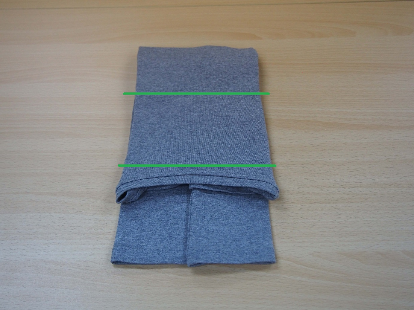 こんまり流 長袖のたたみ方10