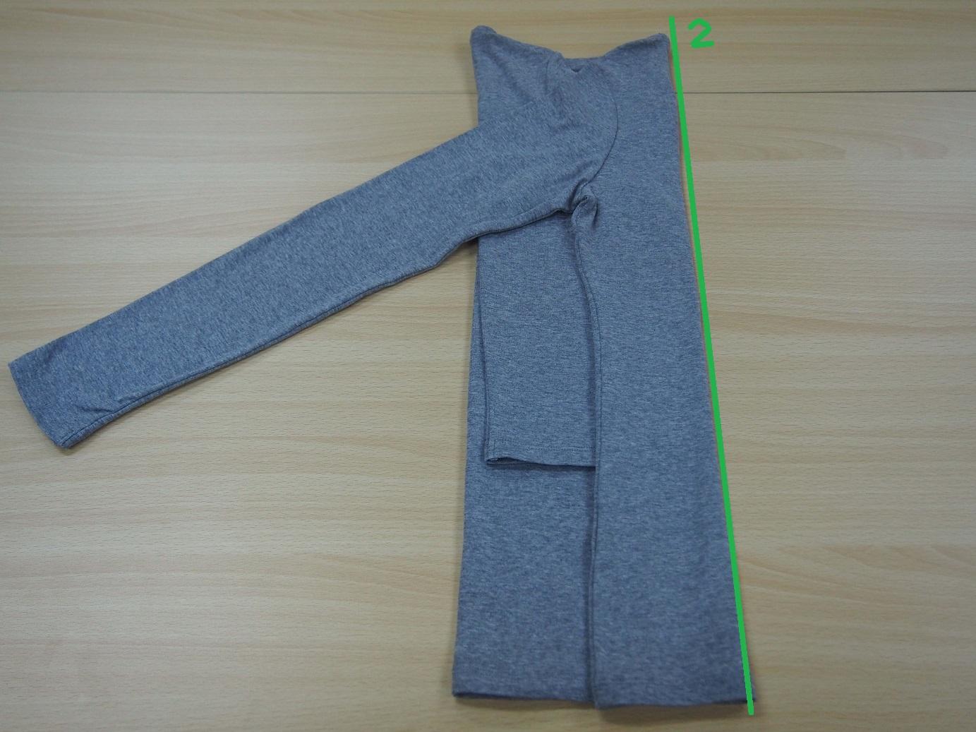 こんまり流 長袖のたたみ方6