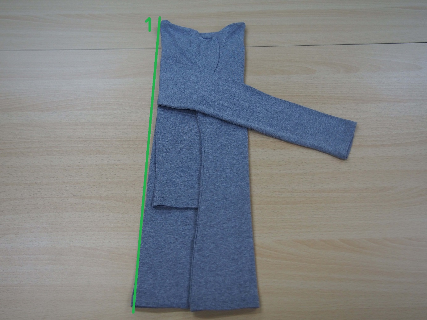 こんまり流 長袖のたたみ方7