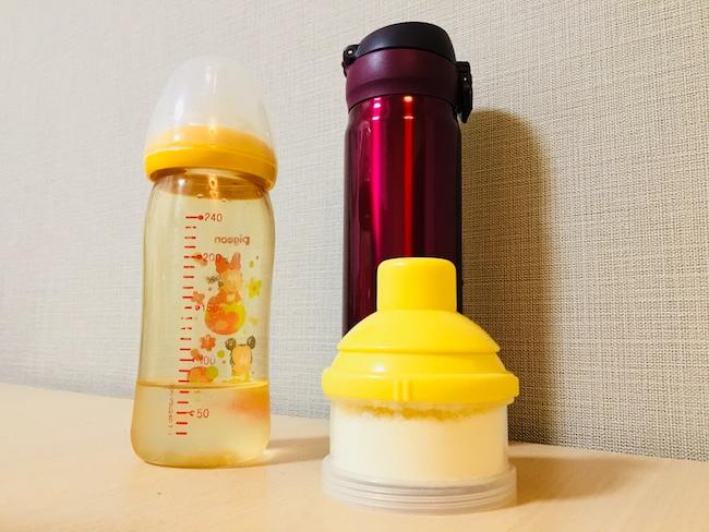 お出かけ先でミルクを作る – 持ち物リストと調乳方法
