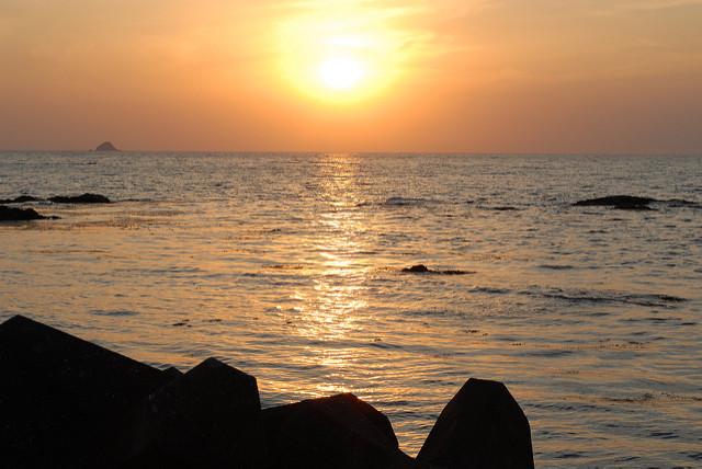 太陽が真西に沈むお彼岸