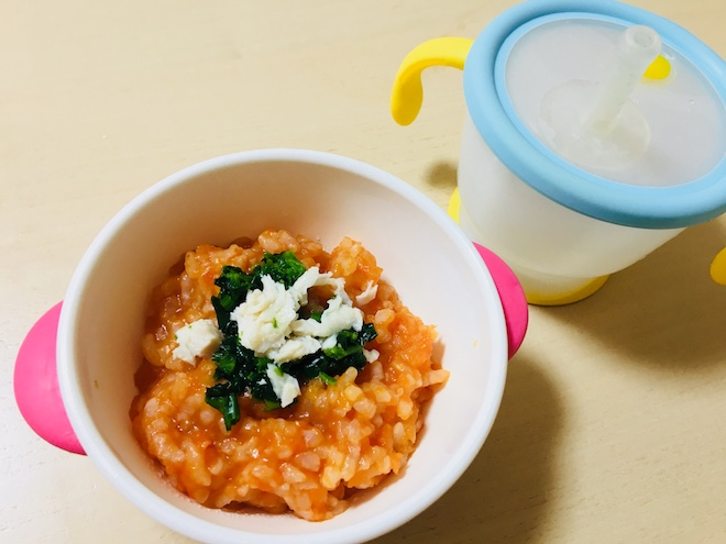 野菜の不足する冬にぴったり 離乳食用トマトリゾットのレシピ